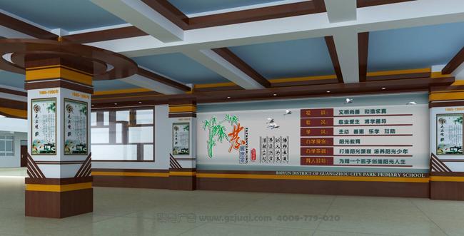 (负责:美术科) 特色校园文化走廊设计,把学生带入一个个童星飞扬的