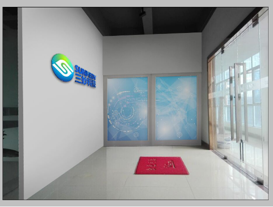广州公司前台形象墙设计图片