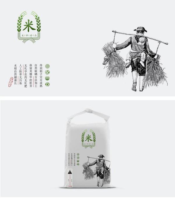 采用了人物手绘结合文字的方式进行有序的排版,罐装造型采用客家围屋