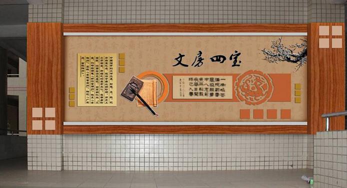 广州学校走廊文化装饰 校园楼道文化装饰 学校文化廊道装饰公司 广州