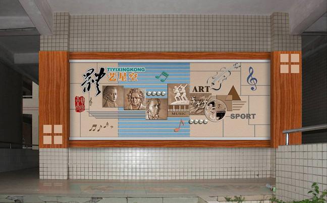 州学校走廊文化装饰 校园楼道文化装饰 学校文化廊道装饰公司 广州