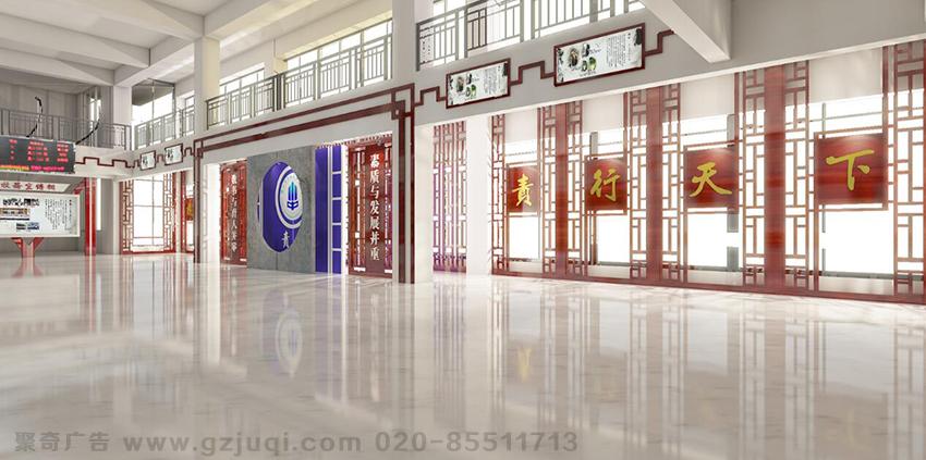 学校走廊文化设计 广州学校楼道文化装饰 学校走廊文化墙设计公司 聚
