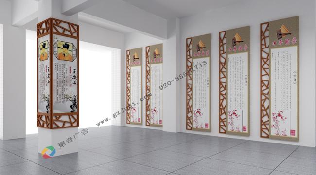 学校大厅文化墙设计_校园楼道柱子文化设计_学校文化