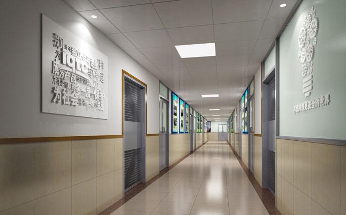 安全检验公司走廊文化墙设计