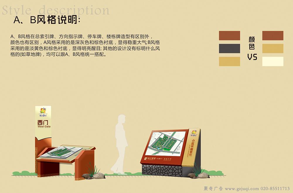 广州住宅小区标识导视牌设计
