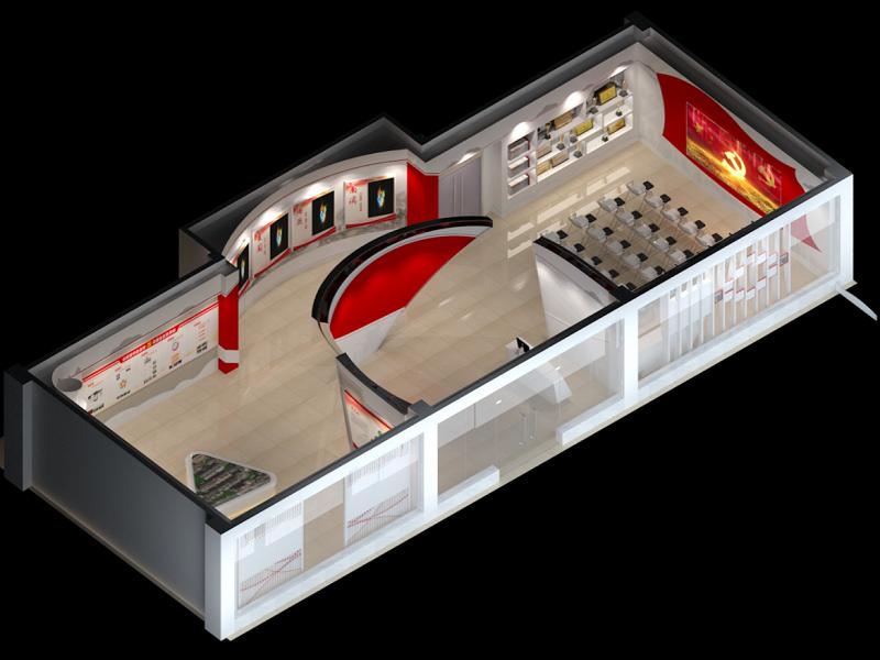 黄埔穗东街党建文化展厅设计